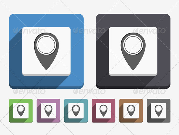 Map Pin Icon - Web Elements Vectors