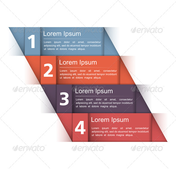 Design Template with Four Elements - Miscellaneous Vectors