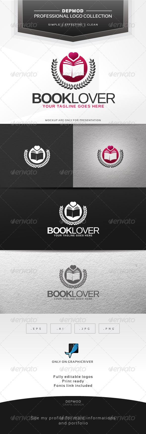 Book Lovers V.02 Logo - Symbols Logo Templates