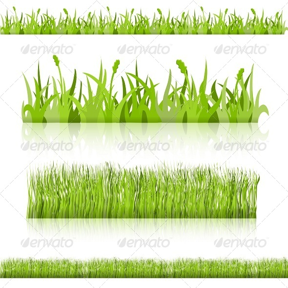 Set Grass. Vector Image. - Backgrounds Decorative