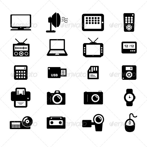 Electronic and Accessories Icon - Technology Conceptual