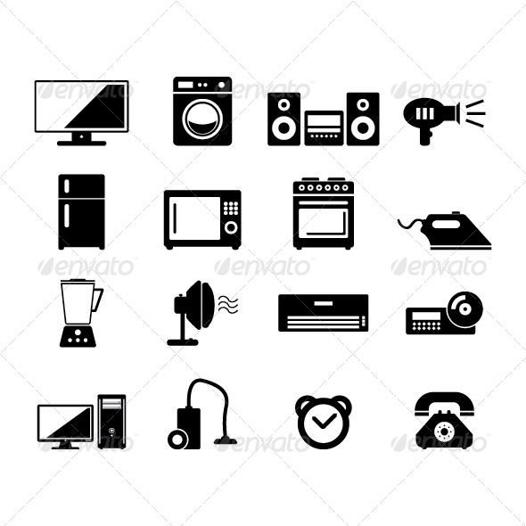 Home Devices - Objects Vectors