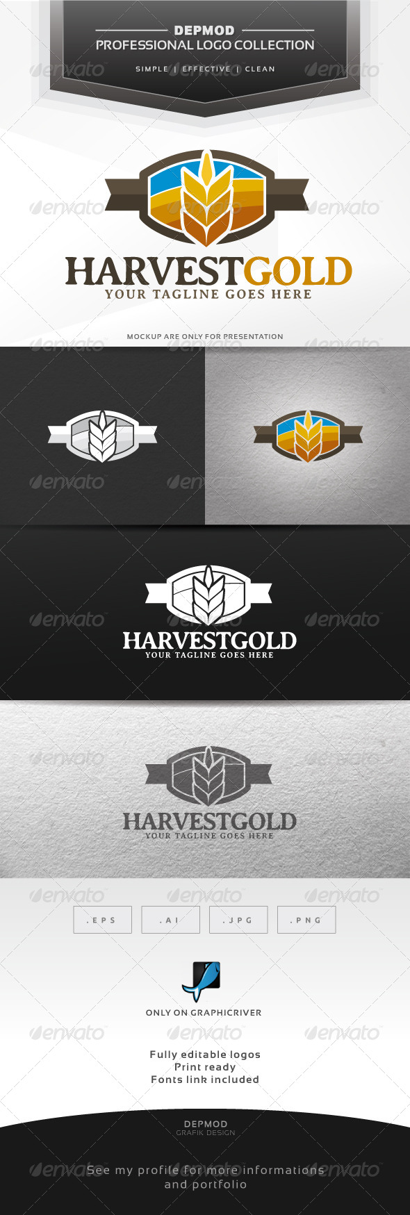 Harvest Gold Logo - Nature Logo Templates