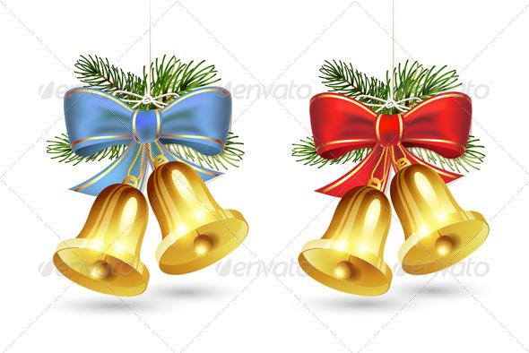 Christmas Golden Bells - Christmas Seasons/Holidays