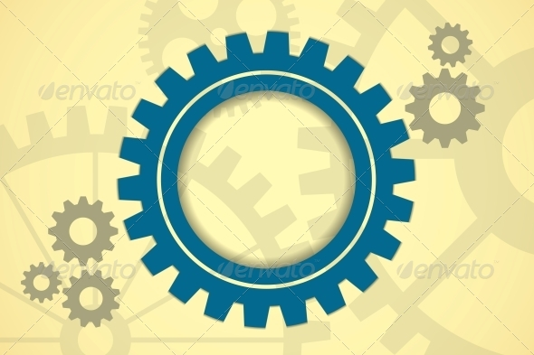 Gears Background - Web Technology