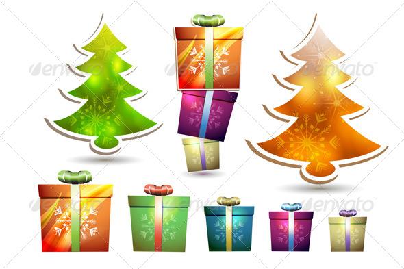 Christmas Gift Box  - Christmas Seasons/Holidays