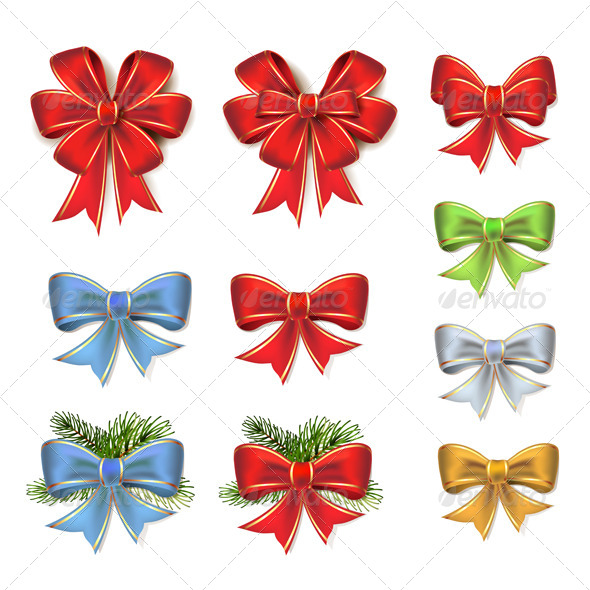 Christmas Bows - Christmas Seasons/Holidays