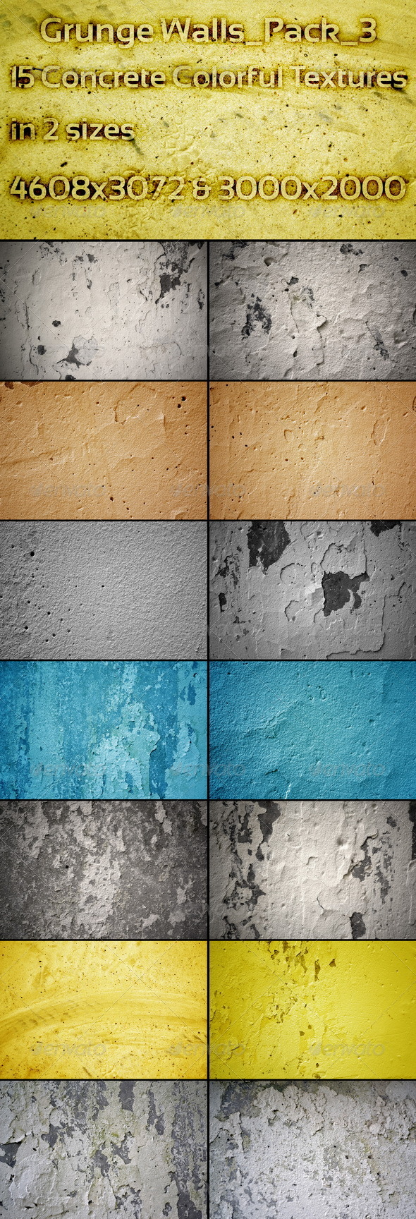 Grunge Walls_Pack_3 - Concrete Textures