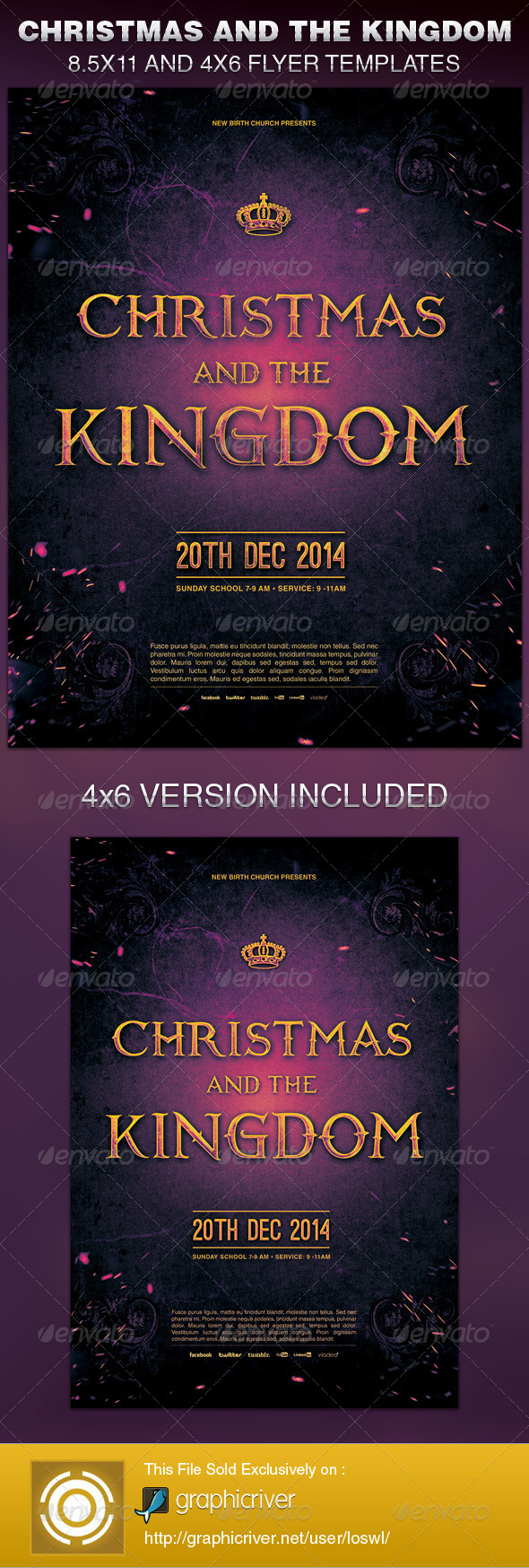 Christmas and the Kingdom Church Flyer Template - Church Flyers