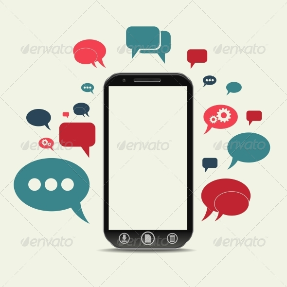 Cellphone Chat Concept - Web Technology