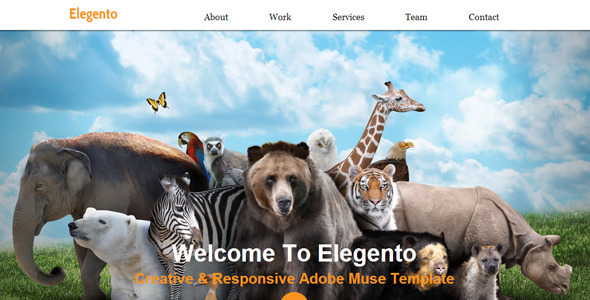 Elegento – Multi-Purpose One Page Muse Template