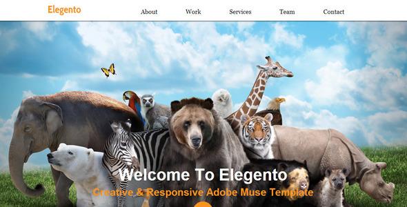 Elegento - Multi-Purpose One Page Muse Template
