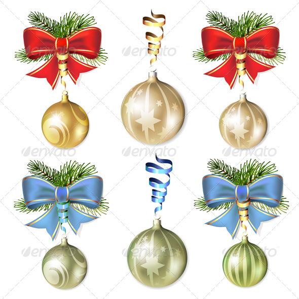 Christmas Ball with Bow - Christmas Seasons/Holidays
