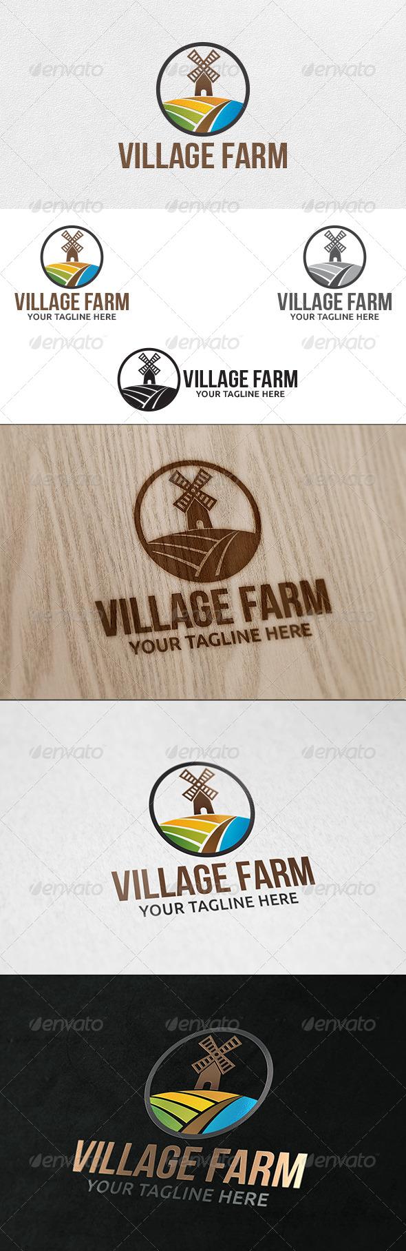 Agro Farm - Logo Template - Buildings Logo Templates