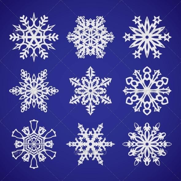 Collection of Snowflakes - Christmas Seasons/Holidays