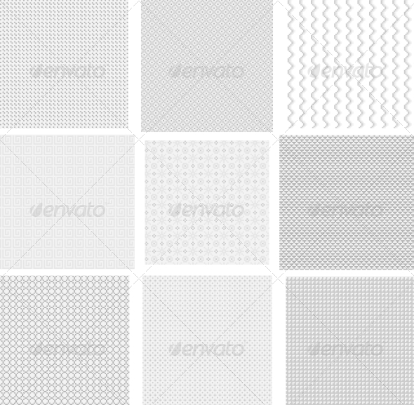 Light Pixel Seamless Patterns - Web Technology
