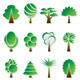 Simple Green Tree Icon Set - GraphicRiver Item for Sale