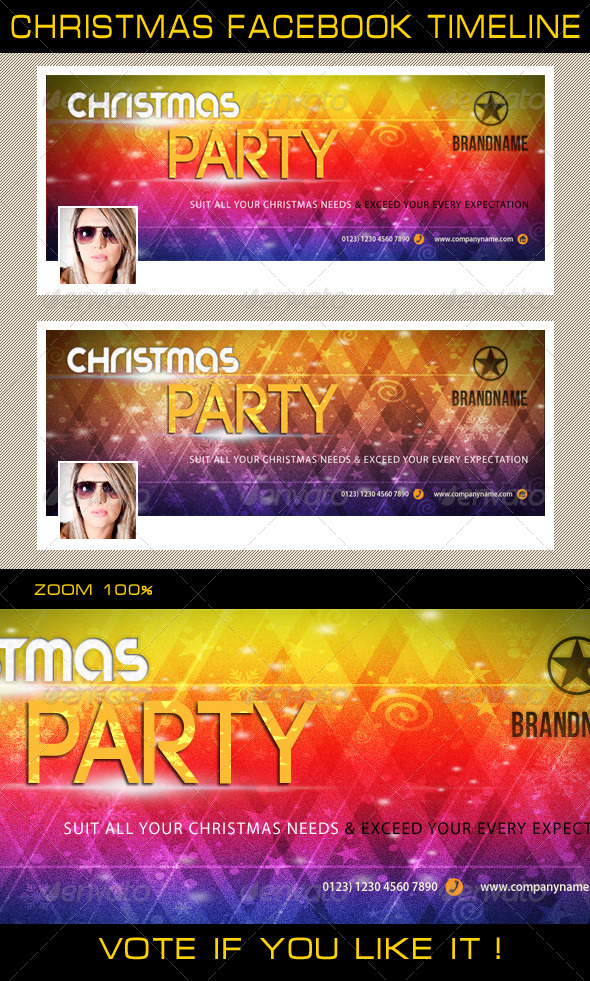 Christmas Holidays Facebook Timeline 03 - Facebook Timeline Covers Social Media