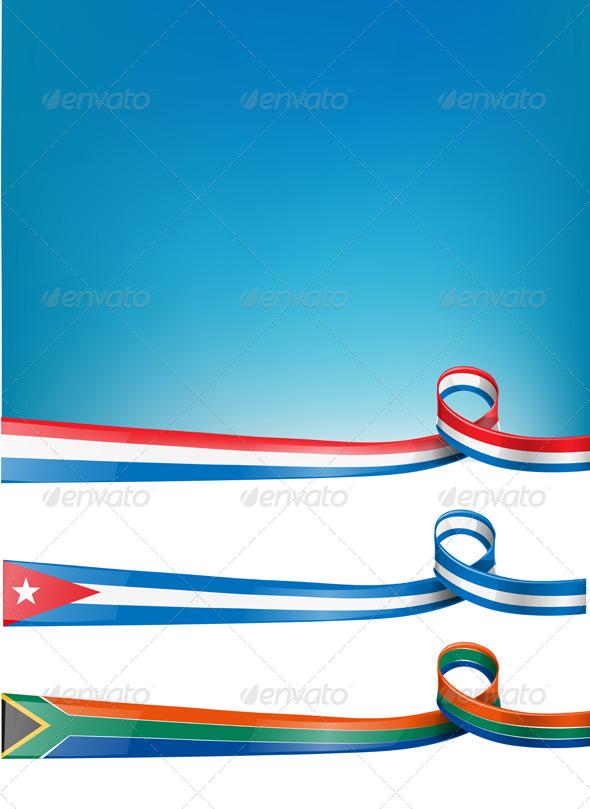 Background Flag Set  - Backgrounds Decorative