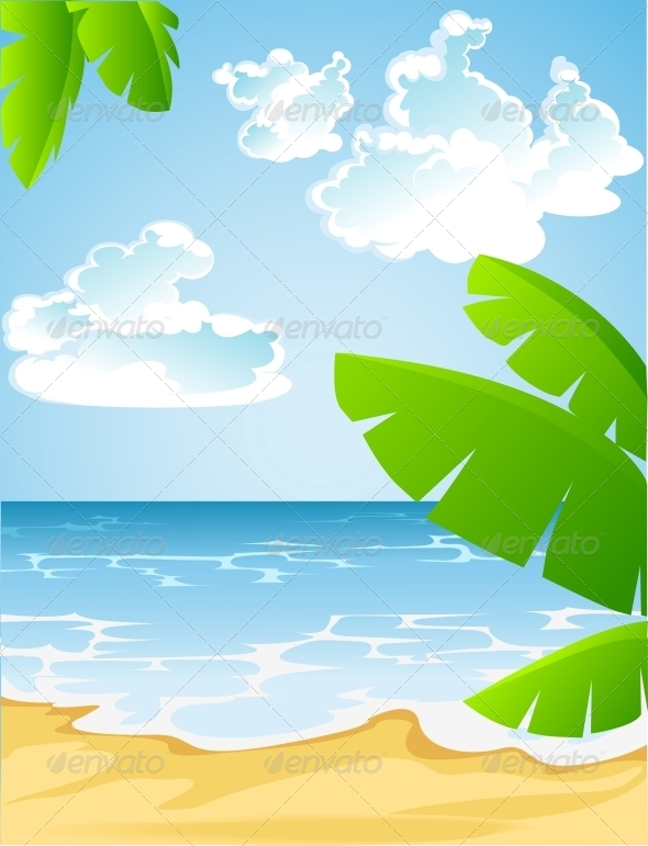 Sunny Summer Sandy Beach - Landscapes Nature