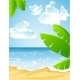 Sunny Summer Sandy Beach - GraphicRiver Item for Sale