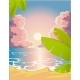 Evening Sandy Beach - GraphicRiver Item for Sale