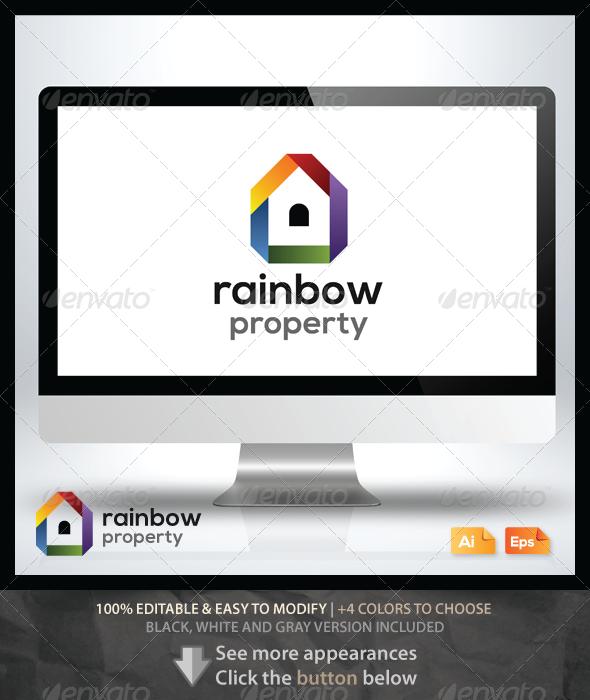 Rainbow Property Logo - Buildings Logo Templates
