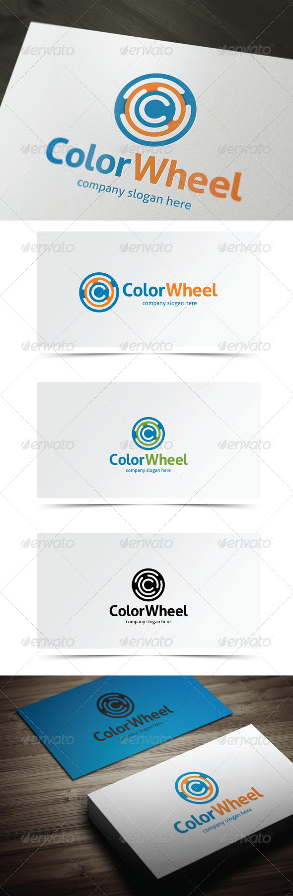 Color Wheel - Letters Logo Templates