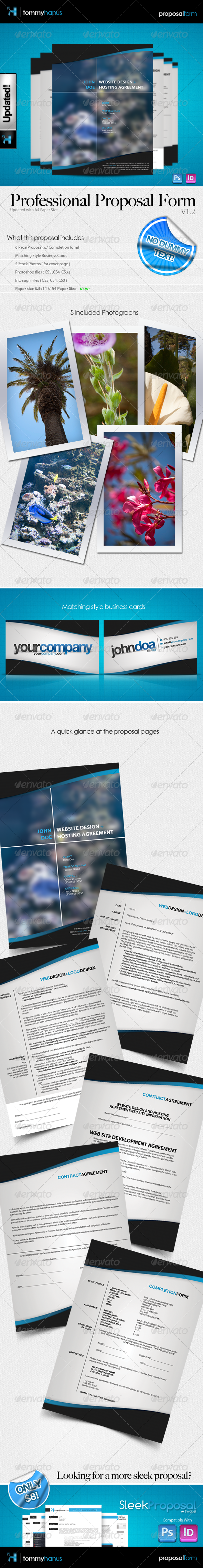 Professional Proposal Pack + Business Cards!! - Proposals & Invoices Stationery