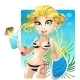 Summer Blond Girl on the Beach - GraphicRiver Item for Sale