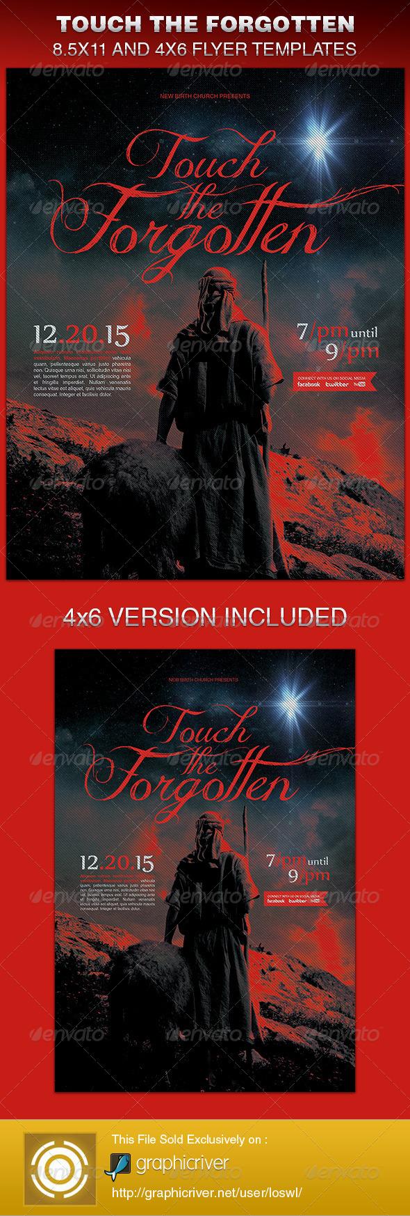 Touch The Forgotten Church Flyer Template - Church Flyers