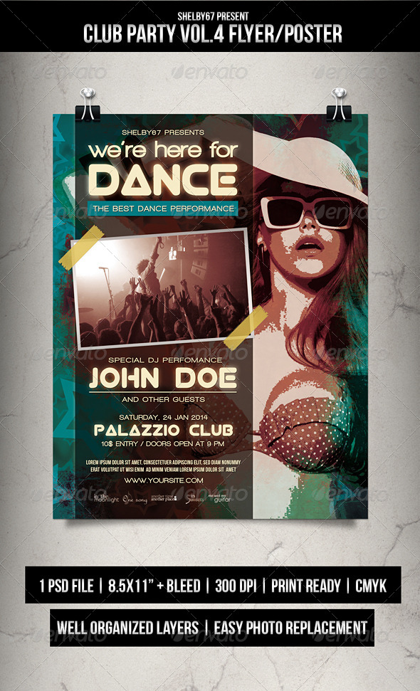 Club Party Flyer / Poster Vol.4 - Clubs & Parties Events