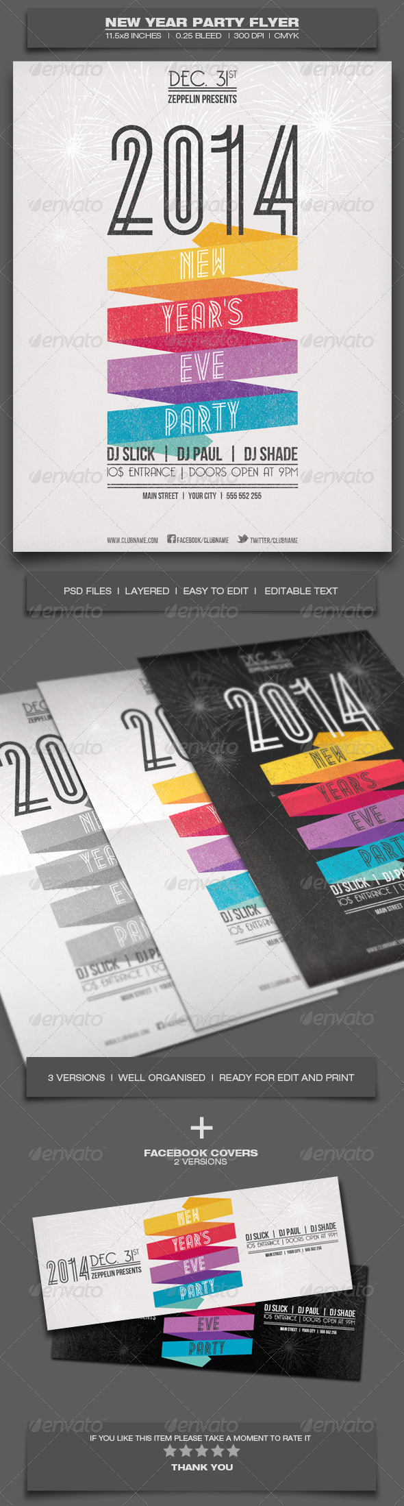 New Year Party - Event Flyer Template - Events Flyers
