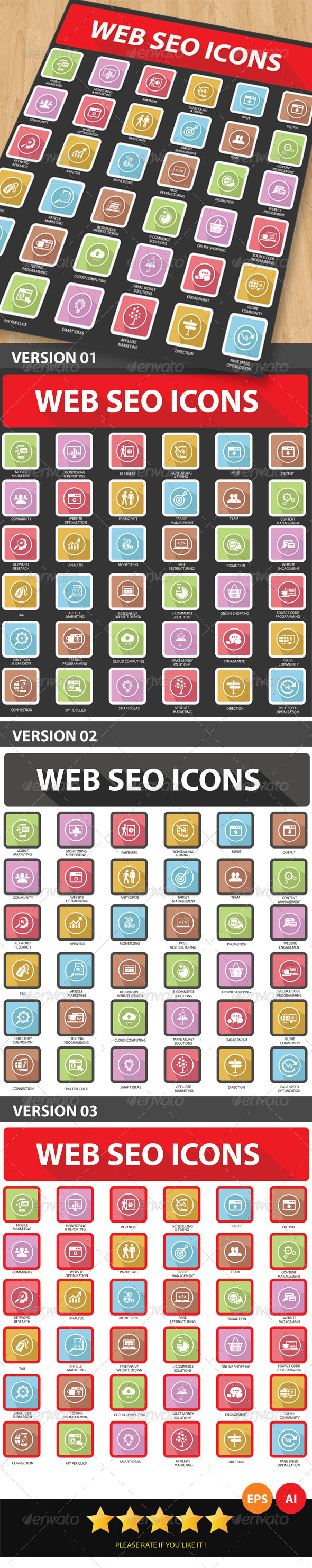 Web SEO Icons - Web Icons