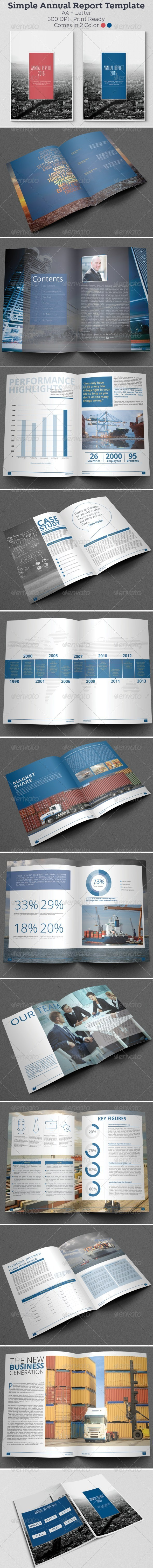 Simple Annual Report Template by hossaine – Simple Annual Report Template