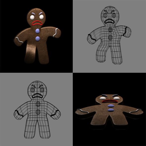 Gingerbread Man - 3DOcean Item for Sale