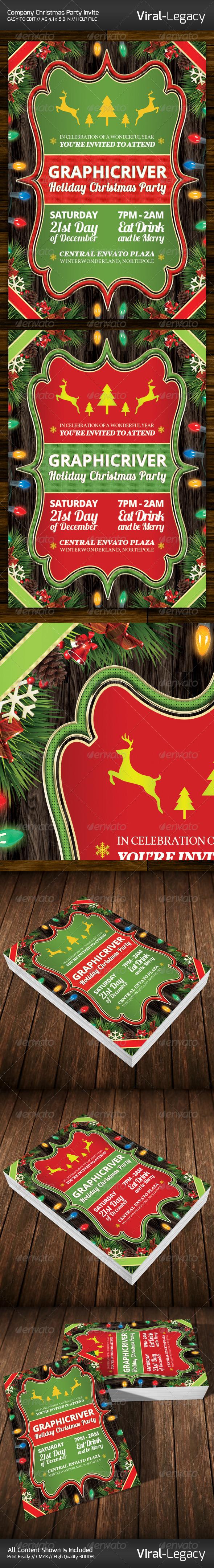 Christmas Company Party Invitation - Invitations Cards & Invites