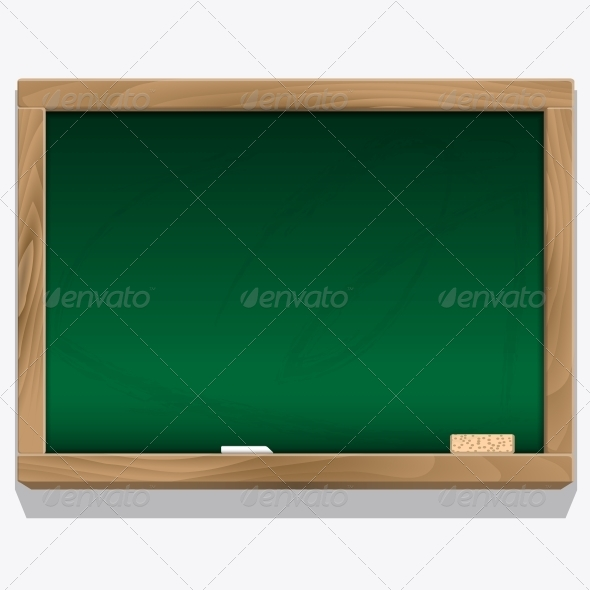 Class Board with Chalk Vector - Backgrounds Decorative