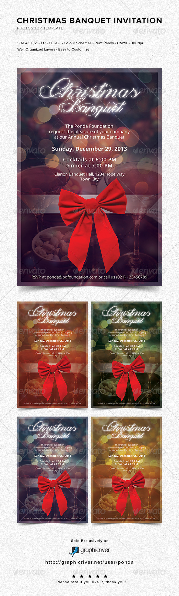 Christmas Banquet Invitation - Invitations Cards & Invites
