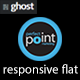 Responsive flat - Metro style ghost theme Nulled