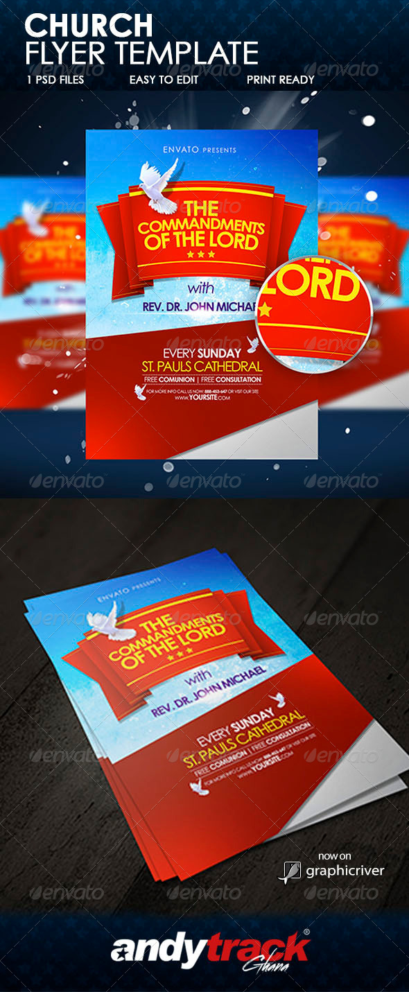Church Flyer Template - Miscellaneous Events