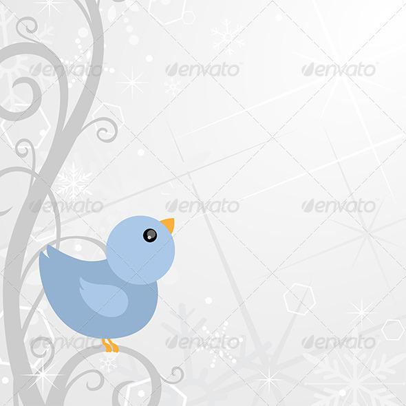 Winter Background Design - Decorative Vectors