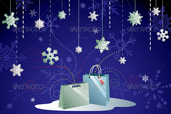 Winter Shopping Background - Commercial / Shopping Conceptual