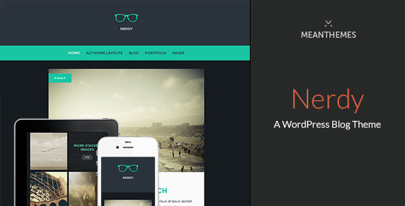 Nerdy: A WordPress Blog Theme - Personal Blog / Magazine
