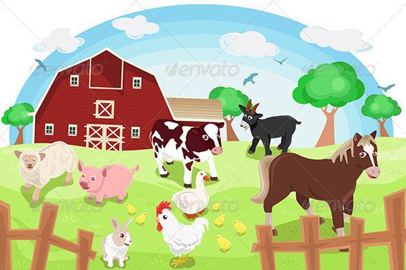 Farm Animals - Christmas Seasons/Holidays