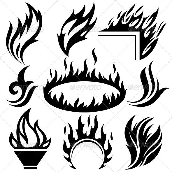 Fire Signs Set - Miscellaneous Vectors