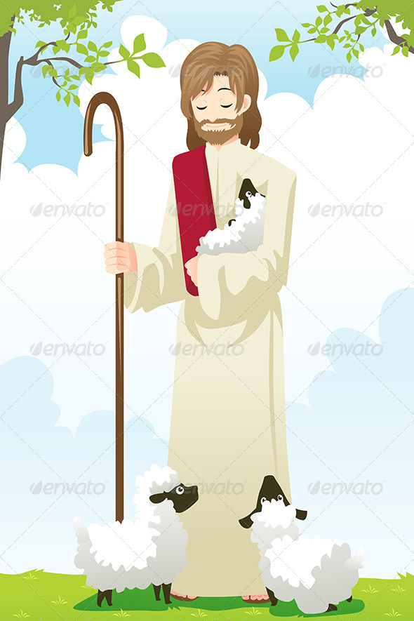 Jesus the Shepherd - Religion Conceptual