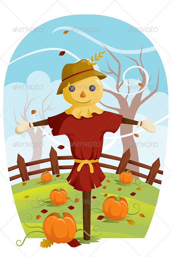 Scarecrow for Fall Harvest - Seasons/Holidays Conceptual