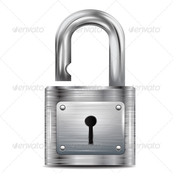 Icon Open Padlock - Vectors