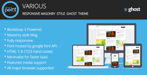 Various – Responsive masonary style ghost theme